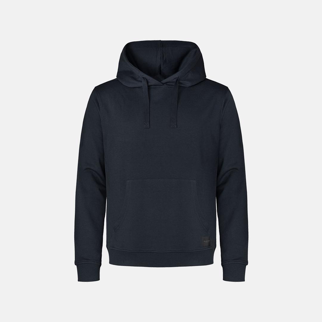 Navy bambus hoodie fra Resteröds
