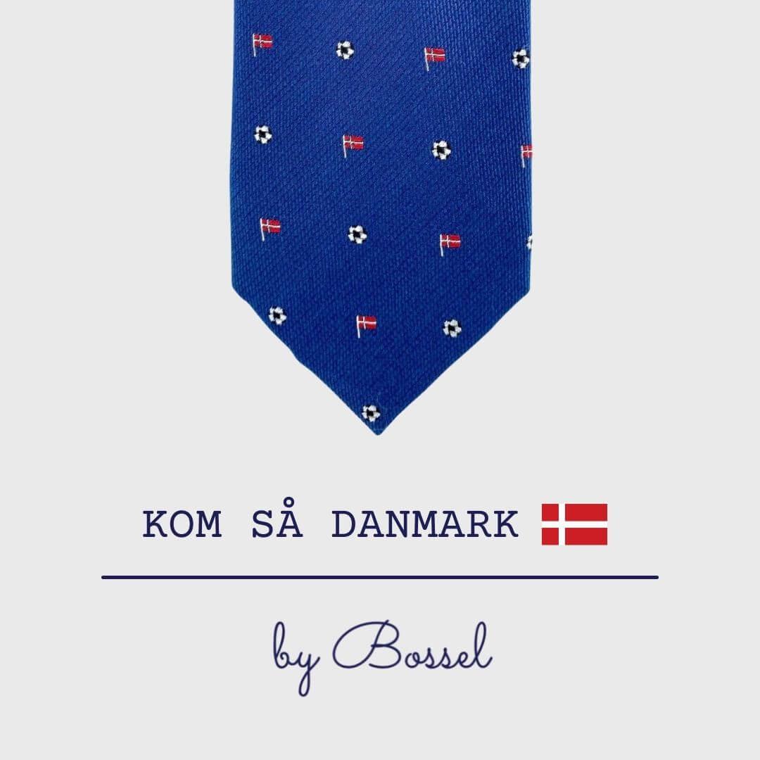 Navy slips med danske flag og fodbold
